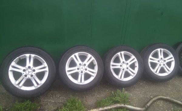 Диски Almach и летние шины для Mercedes W211